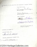Autographs, Irving Berlin Scarce Signed Document