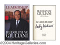 Autographs, Rudy Giuliani In-Person Signed Book