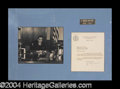 Autographs, J. Edgar Hoover Signed Letter Display