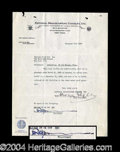 Autographs, Robert Ripley Vintage Signed Document