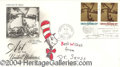 Autographs, Dr. Seuss Signed Cat In the Hat Sketch