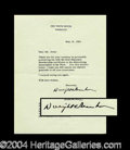 Autographs, Dwight Eisenhower Typed Letter Signed as President