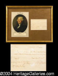 Autographs, Thomas Jefferson Rare Handwritten Signed Pay Order