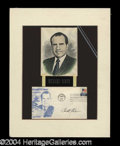 Autographs, Richard Nixon Signed Matted Display