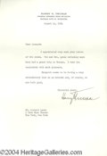 Autographs, Harry Truman Typed Letter Signed