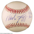 Autographs, Wade Boggs Signed 3000 Hit Baseball