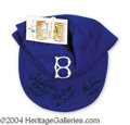 Autographs, Brooklyn Dodgers Signed Cap w/ Pitching Stars