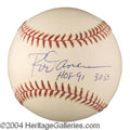 Autographs, Rod Carew In-Person Signed Stat Baseball