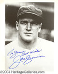 Autographs, Joe Cronin Signed 8 x 10 Photo