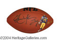 Autographs, Eric Dickerson Hand Painted Signed Football