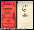 Autographs, Ernie Els Signed Personal Yardage Book
