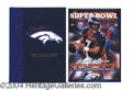 Autographs, John Elway Super Bowl XXXII Signed Program