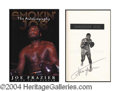 Autographs, Joe Frazier Signed First Edition Book