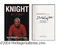 Autographs, Bobby Knight Signed First Edition Book