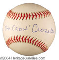 Autographs, Frank Crosetti Yankees Signed Baseball