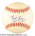 Autographs, Bob Lemon Signed Baseball