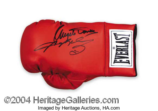 95545419385 Sugar Ray Leonard   Dundee Signed Glove Autographs