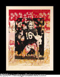 Autographs, Joe Montana Large Signed Lithograph