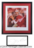 Autographs, Joe Montana Framed Signed Lithograph