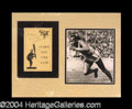 Autographs, Jesse Owens Signed Matted Display