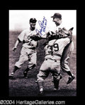 Autographs, Johnny Podres Signed 55 World Series Photo
