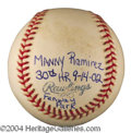 Autographs, Manny Ramirez Rare Genuine Home Run Baseball