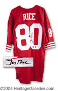 Autographs, Jerry Rice Signed 49'ers Jersey w/ Hologram