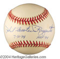 Autographs, Phil Riizzuto Signed Stat Baseball