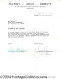 Autographs, Jane Seymour Signed Document