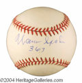 Autographs, Warren Spahn Signed Baseball