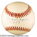 Autographs, Warren Spahn Signed Cy Young Baseball