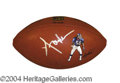 Autographs, Lawrence Taylor Hand Painted Signed Football