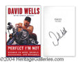 Autographs, David Wells Signed First Edition Book