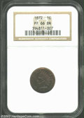 Proof Indian Cents: , 1872 PR 66 Brown NGC. ...