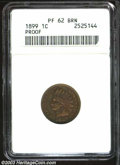 Proof Indian Cents: , 1899 PR 62 Brown ANACS. ...