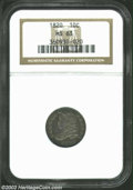 Bust Dimes: , 1820 Large 0 MS63 NGC. ...