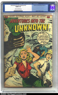 Golden Age (1938-1955):Horror, Adventures Into the Unknown #14 (ACG, 1950) CGC VG/FN 5.0 Cream tooff-white pages. This early ACG horror title promises a l...