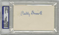 Football Collectibles:Balls, Paddy Driscoll Signed Index Card PSA Authentic. Early quarterback star Paddy Driscoll was a force throughout the 1920s, but...