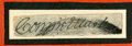 """Autographs:Others, Connie Mack Signed Cut Signature. An affordable example of anessential Hall of Fame signature. This little (.5x2"""") cut ha..."""