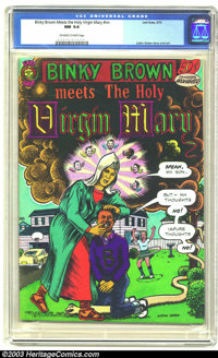 Binky Brown Meets the Holy Virgin Mary #nn (Last Gasp, 1972) CGC NM 9.4 Off-white to white pages. Underground. Justin Gr...