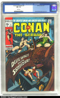 Bronze Age (1970-1979):Superhero, Conan The Barbarian #6 (Marvel, 1971) CGC NM- 9.2 White pages. Barry Windsor-Smith cover and art. Overstreet 2003 NM 9.4 val...