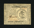 Colonial Notes:Continental Congress Issues, Continental Currency February 17, 1776 $3 Choice About New. Asingle light centerfold is located on this boldly signed and w...