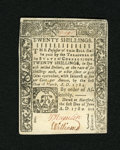 Colonial Notes:Connecticut, Connecticut June 1, 1780 20s Slash Cancel Choice New. A small internal cancellation is found making this note much scarcer t...