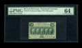 Fractional Currency:First Issue, Fr. 1310 50c First Issue PMG Choice Uncirculated 64. This is apleasing perforated variety....