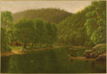 Fine Art - Painting, American:Other , AMERICAN SCHOOL (Nineteenth Century). River Scene. Oil oncanvas. 22-1/8 x 32 inches (56.2 x 81.3 cm). Unsigned. Prove...