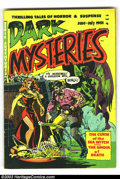 Golden Age (1938-1955):Horror, Dark Mysteries #1 (Master Publications, 1951) Condition: VG. WallyWood cover and art. Small water spots on front cover. Ove...