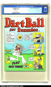 Dirt Ball Funnies #1 (Krupp Comic Works, Inc., 1972) CGC NM- 9.0 Off-white pages. This early Underground comix book does...