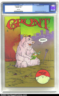 Grunt Records #2 (Grunt Records, 1973) CGC VF/NM 9.0 White pages. Underground. Greg Irons and Tom Veitch art. Overstreet...