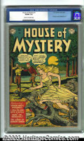 Golden Age (1938-1955):Horror, House of Mystery #1 (DC, 1952) CGC VG/FN 5.0 Cream to off-whitepages. First DC horror comic. Overstreet 2003 VG 4.0 value =...
