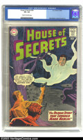 Silver Age (1956-1969):Mystery, House of Secrets #59 (DC, 1963) VF+ 8.5 Cream to off-white pages.Mort Meskin and Howard Purcell art. Overstreet 2003 VF 8.0...